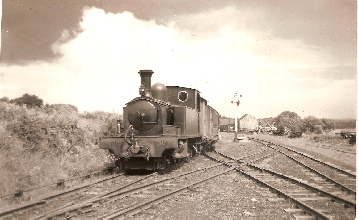 Tooban Jct LLSR Loco 10 for Buncrana. June 3rd 1952 001