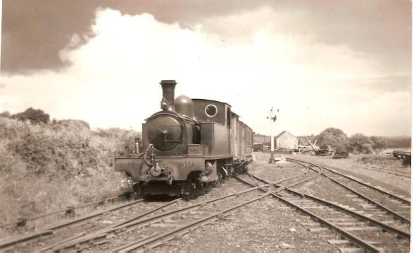 Tooban Jct LLSR Loco 10 for Buncrana. June 3rd 1952 001
